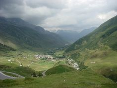 View from Furka Pass, Swiss Alps