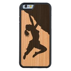 girl bouldering wooden iPhone 6 case Carved® Cherry iPhone 6 Bumper Case