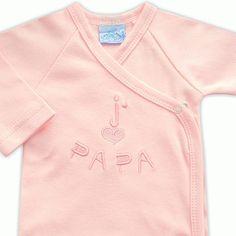 3bf1515065523 Body bébé fille en coton rose brodé J aime Papa   Babystock