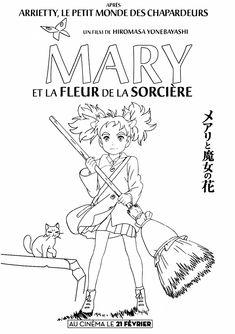 coloriage affiche du film Mary et la fleur de sorciere