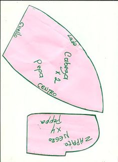 Peppa Pig de Peluche - Aprendamos Juntos Peppa Pig, Ideas Para Fiestas, Sewing, Toys, Patterns, Teacup Pigs, Paper Craft Work, Craft Ideas, Fabric Dolls