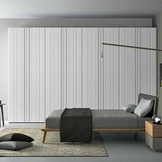 Unique, elegant 'Stripe' Wardrobe. Ultramodern and contemporary design, white wooden and high quality materials. My Italian Living