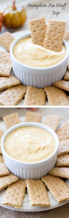 This sweet dessert dip tastes like pumpkin pie cheesecake! Made with real pumpkin puree, marshmallow fluff, and cream cheese, this dip is so delicious!