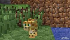 The most cutest pic I have seen of an ocelet on minecraft pc