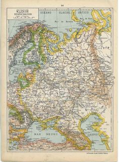 This is an interesting map!  It was published in 1942 but it shows Russia as an independent state and not as part of the Soviet Union.   Printed in Spain,  that is probably the reason.  #map #russia #baltic states