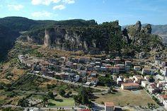 Vista del paese da Tisiddu Ulassai