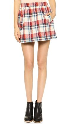 The perfect plaid skirt for fall!