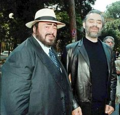Pavarotti with Bocelli