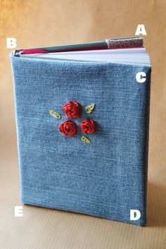 How to sew your own planner cover (works for any hardback book)   Crafting Fingers #sewing #books #pattern