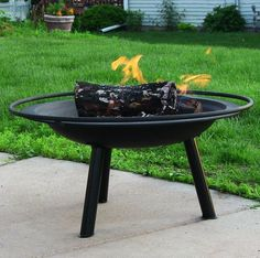 Outdoor Classics Halo Fire Pit w Firewood Grate, Mesh Spark Screen & Poker
