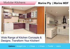 Wide Range of Kitchen Concepts & Designs. Transform Your Kitchen!  Visit Our Website :http://dreamspacehyd.com/