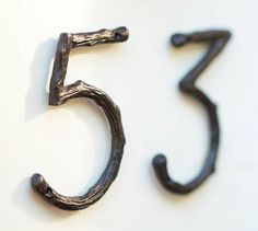 Nice touch for a rustic home. Branch House Numbers - eclectic - house numbers - - by Pottery Barn Eclectic House Numbers, Letters And Numbers, Table Numbers, Decoration, Pottery Barn, Home Projects, Bronze, House Design, Outdoor Decor