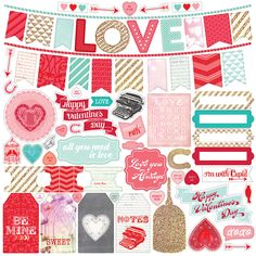 Echo Park - Lucky In Love Collection - 12 x 12 Cardstock Stickers - Elements at Scrapbook.com