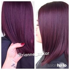 Plum hair color in 2019 Hair Color And Cut, Haircut And Color, Love Hair, Gorgeous Hair, Natural Hair Styles, Long Hair Styles, Pretty Hairstyles, Latest Hairstyles, Hair Looks
