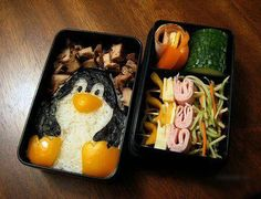 Adorable. Food art lunch boxes