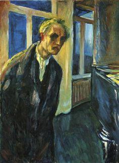Edvard Munch, Self-Portrait. The Night Wanderer, 1923-24