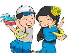 I draw Myanmar new year festival called water festival illustration for Max Myanmar Construction Co. This illustration used in t-shirt, stage design and other decoration. Festival Logo, Festival T Shirts, T Shirt Design Template, Cartoon Photo, Gaming Wallpapers, Stage Design, Shirt Designs, Disney Princess, Disney Characters