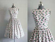 Vintage 1950s Dress / 50s Cotton Dress / by TuesdayRoseVintage, $118.00