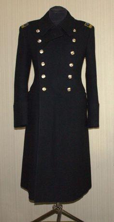 Vintage USSR Russian Military Surplus Uniform Overcoat Soldier ...