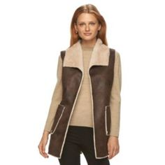 Women's+Weathercast+Faux-Shearling+Vest (size xl)