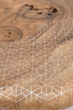 Organic + geometric coffee table by Nada Debs | This one-off  table designed by Beirut-based studio Nada Debs, is a play on the organic versus geometry. A celebration of Eastern craftsmanship through contemporary design.