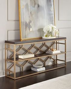 Garvey Console Table by Hooker Furniture at Horchow.