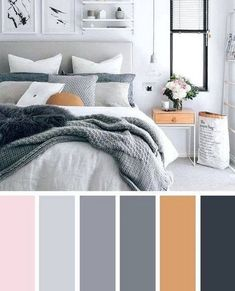 Beautiful bedroom colors - 74 beautiful bedroom color schemes ideas that look so amazed 4 – Beautiful bedroom colors Best Bedroom Colors, Bedroom Colour Palette, Bedroom Colour Schemes Neutral, Living Room Color Schemes, Paint Colors For Living Room, Apartment Color Schemes, Interior Design Color Schemes, Color Schemes For Bedrooms, Gray Color Schemes