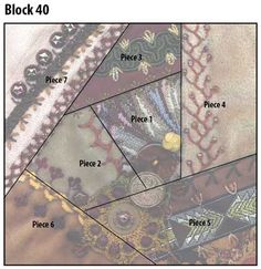Pintangle crazy quilt block pattern 40