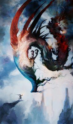The Storm Queen, Aaron Nakahara on ArtStation at https://www.artstation.com/artwork/the-storm-queen