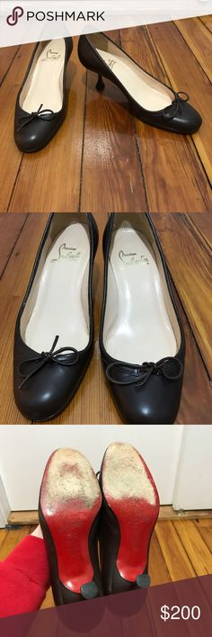 Louboutin brown kitten heels 36 Louboutin kitten heels in good condition except for some sole wear. Size 36 and true to a size 6. Mat also fit a 6.5. Christian Louboutin Shoes Heels