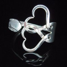 Fork Bracelet in Intertwining Hearts Design Number by MarchelloArt, $ 30