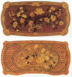 Floral marquetry of Jean-François Oeben.