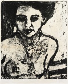 Ernst Ludwig Kirchner Artistenkind (Halbakt) (Dube L 136; Schiefler 80)