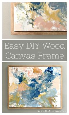 Build this quick and easy DIY wood frame for canvas or wall art. Includes steps and video tutorial. This DIY wooden frame has a clean and simple design using lumber. How to Make a Wood Frame. Wooden Wall Art, Diy Wall Art, Wooden Diy, Wood Art, Wood Wood, Simple Wall Art, Diy Wand, Framing Canvas Art, Canvas Frame