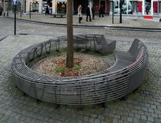 Wraparound bench