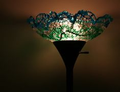 Melted pony bead/mardi gras beads lamp shade ~ insane...but I think I might need to try this with the girls!