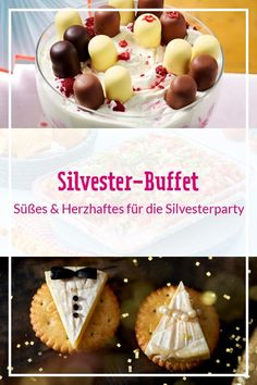 Silvester-Buffet – die besten Rezepte für die Silvesterparty Our for the # New Year's Eve buffet have many hearty but also sweet treats with which you can start the new year with a delicious taste. From quick # finger food to delicious # middle Buffet Dessert, Party Buffet, Brunch Buffet, Butterfinger Cheesecake, Cheesecake Bars, Drink Party, Dessert Nouvel An, Silvester Snacks, Party Silvester