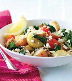 New Potato & Turkey Skillet Supper - Clean Eating Magazine (use for abundance of swiss chard)