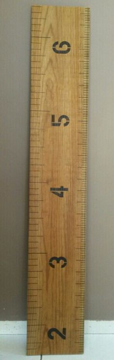 Rustic ruler growth chart