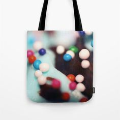 Tote Bag - Cupcake Sprinkles Photo - Grocery Bag - Beach Bag - Carry All Tote - Book Bag - Colorful Sprinkles - Made to Order (36.00 USD) by ShelleysCrochetOle