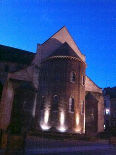 Vue de l'abbatial de Bernay en début de soirée...