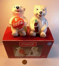 Coca Cola Playtime Bear Cubs Salt & Pepper Shakers-NIB