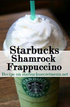 Vanilla bean frappuccino Add peppermint syrup ( 1.5 pumps tall, 2 grande, 2.5 venti) Add classic syrup (1/2 pump tall, 1 pump grande, 1.5 pump venti) Add matcha powder (2 scoops tall, 2.5 scoops grande, 3 scoops venti) Top with whip cream Enjoy :) Starbucks secret menu