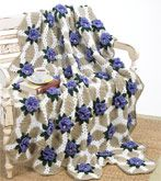 Crochet Pansy Afghan | AllFreeCrochetAfghanPatterns.com