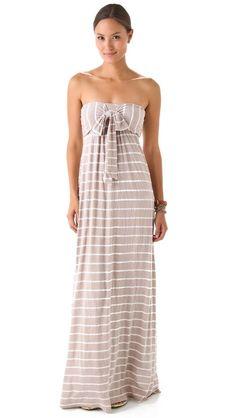 One of my fav dresses! Splendid White Venice Stripe Maxi Dress
