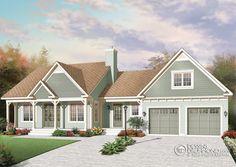 Plan modèle 1 étage et demi - Maisons Laprise Maisons pré-usinées - Modèle #W3620 92 565.21$ le kit