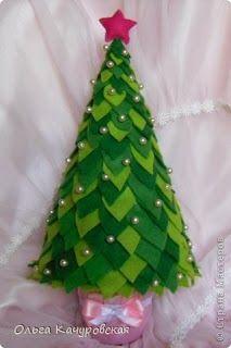 Árbol de navidad en fieltro paso a paso   Creatividad Pastelito