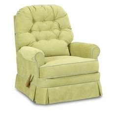 Bennington Swivel Gliding Recliner In Choice Of Fabric and Nursery Necessities in Interior Design Guide : Gliders And Chairs at PoshTots Nursery Rocker Recliner, Swivel Recliner Chairs, Glider Recliner, Chair And Ottoman, Recliners, Chair Cushions, Upholstered Chairs, Mushroom Chair, Recliner