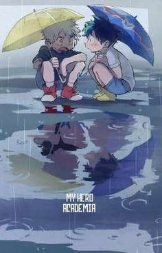 My Hero Academia (僕のヒーローアカデミア) - little Katsuki Bakugou & Izuku Midoriya Boku No Hero Academia, My Hero Academia Memes, Hero Academia Characters, My Hero Academia Manga, Anime Characters, Manga Anime, Anime Guys, Anime Art, Chibi