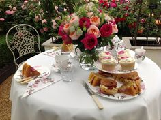 """""""Tea and Cakes"""" by David Austin Roses www.thedirtdiaries.com"""
